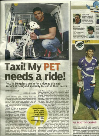 "PetCab In ""Deccan Chronicle"""